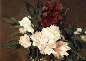 《瓶中花》|爱德华马奈的油画花卉作品