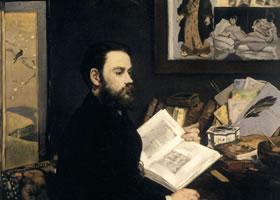 《埃米尔·左拉》人物肖像画作品