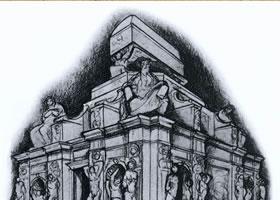 建筑结构素描作品欣赏