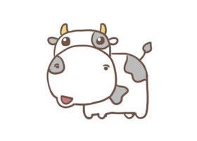 奶牛简笔画步骤
