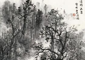 《溪桥流泉》国画欣赏