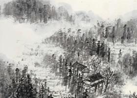 《云山烟树图》国画欣赏