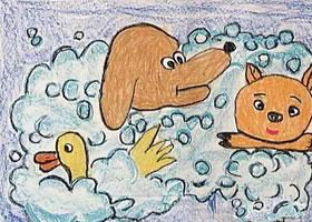 动物蜡笔画图集