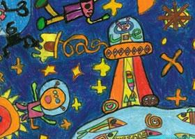 宇宙世界蜡笔画集