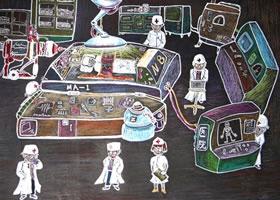 机器人大夫儿童科幻画