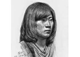 女性素描头像写生画法