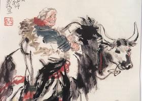 老妇人的国画画法