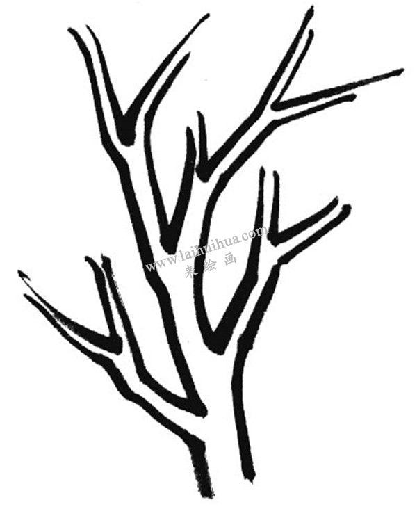 中国国画基础笔法: 折笔练习