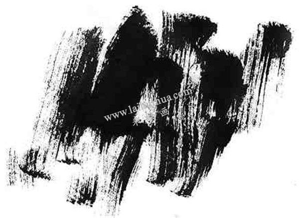 国画用墨技法:干墨