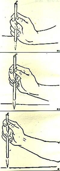 国画正确的握笔姿势