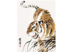 老虎的国画画法步骤