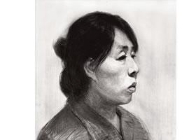 素描中年女性头像的绘画步骤解析