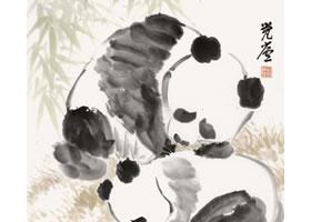 熊猫的国画画法步骤
