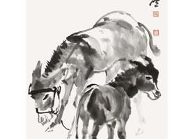 毛驴的国画画法步骤