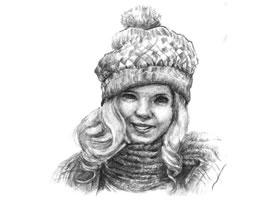 素描时尚的女孩画法步骤