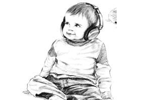 素描戴耳机的小男孩画法步骤