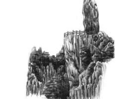 奇峰怪石的素描绘画方法步骤