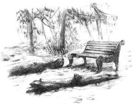 公园一角的素描绘画方法步骤 九