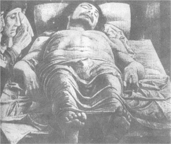 意大利文艺复兴时期的油画 :曼坦那《死了的基督》