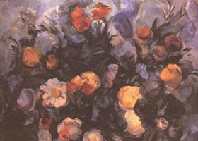 静物油画《花》