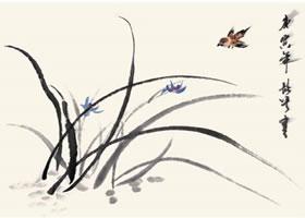 兰花的国画画法