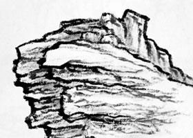 折带皴的画法