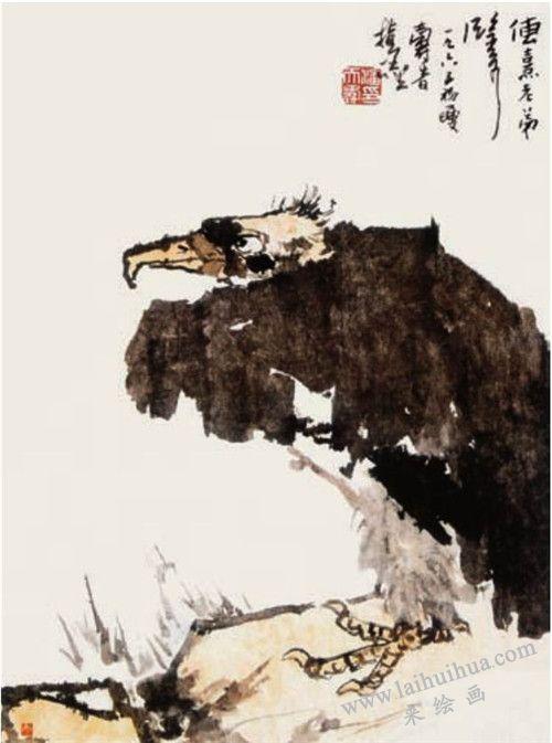 灵鹫 潘天寿