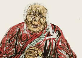 《西藏老人》写意人物画法