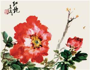 牡丹(局部) 王雪涛