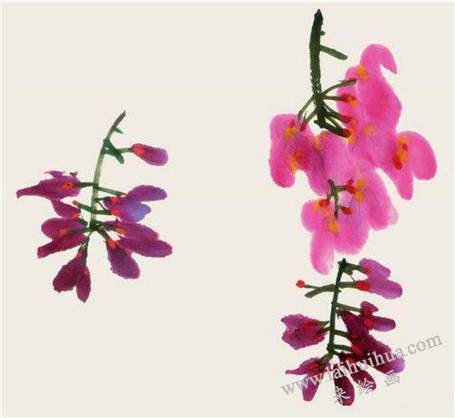 紫藤花头的画法