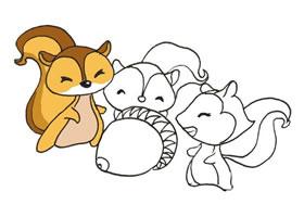 三只松鼠的卡通画画法
