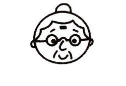 奶奶简笔画画法步骤图解 人物简笔画 来绘画网