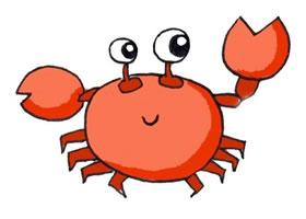 螃蟹卡通画画法步骤