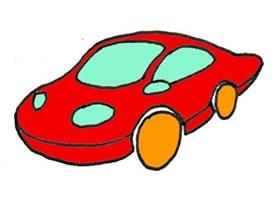 小汽车的卡通画绘画步骤
