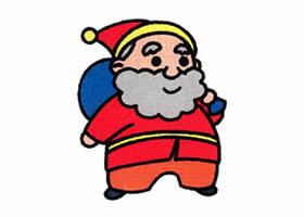 圣诞老人的简笔画画法步骤