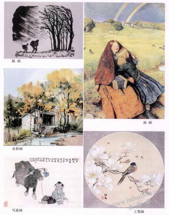 绘画的种类有哪些:版画、油画、工笔画、写意画...