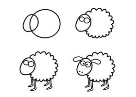 小羊肖恩简笔画画法