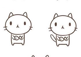 小猫咪简笔画画法步骤