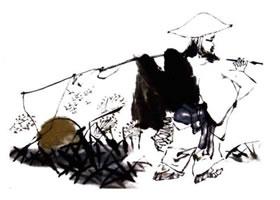 渔翁的国画画法步骤