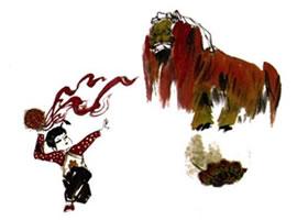 《舞狮》国画画法步骤