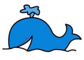 小鲸鱼简笔画画法