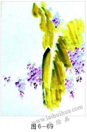 点染紫藤花叶 01