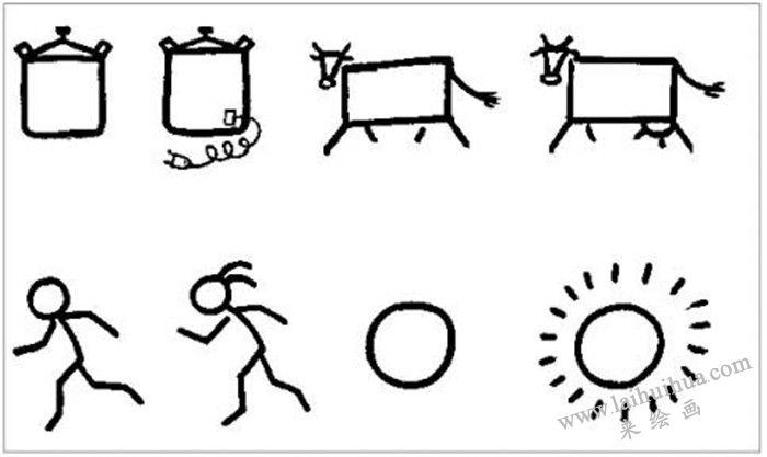 学好简笔画的方法 二  (图1-5)