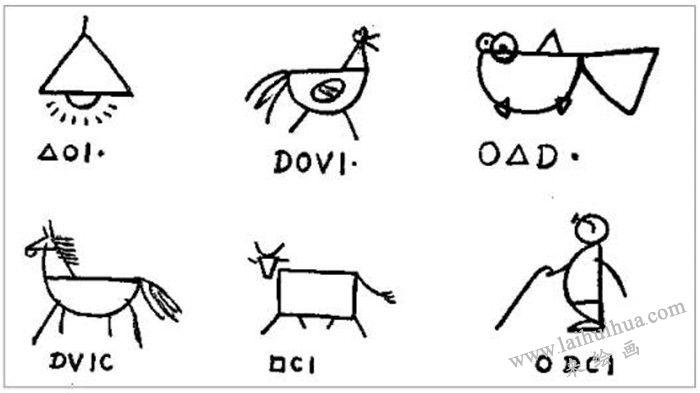 学好简笔画的方法 三  (图1-6)