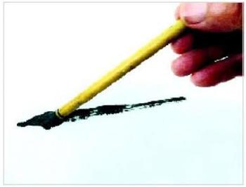 犁破土  笔法