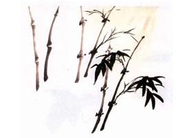 竹子水墨画画法步骤