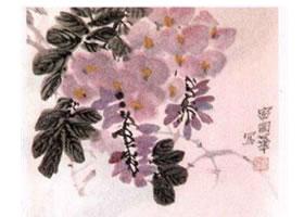 紫藤水墨画画法步骤
