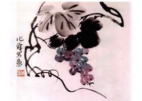 葡萄水墨画画法步骤