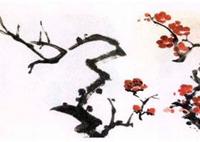 红梅水墨画画法