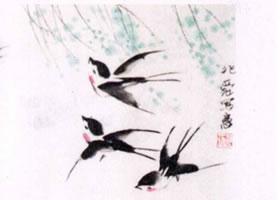 燕子水墨画画法步骤